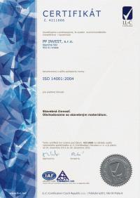 CERTIFIKÁT ISO 14001:2004